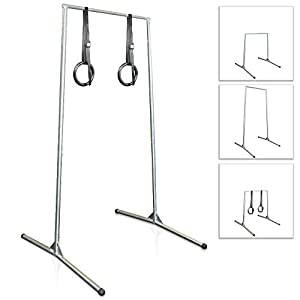 Free Standing Pull Up Bar With Rings Amazon Co Uk Sports