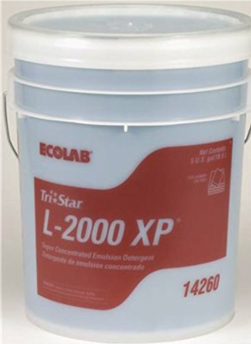 Ecolab Tristar L-2000 XP Super Concentrated commercial Laundry Liquid Detergent - 5 Gallon