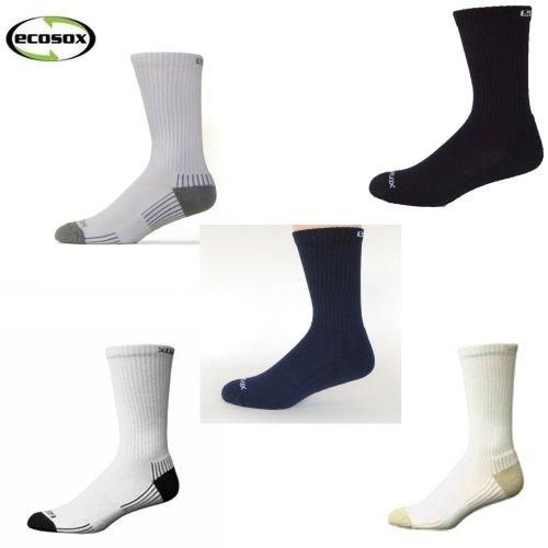Ecosox Sport Socks Crew Set of 5, Large | Bamboo Socks | Work Crew Socks 5 Pairs