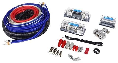 Rockville RDA4+8K Dual 4/8 AWG Car Multi-Amp Installation Wire Kit - True-Gauge! (Ofc 8 Gauge Amp Kit)