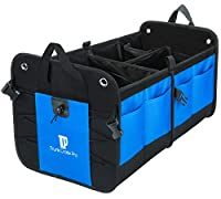 TrunkCratePro Premium Multi Compartments Collapsible Portable Trunk Organizer for auto, SUV, Truck, Minivan