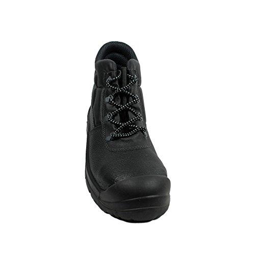 Berner uK classic haute s3 berufsschuhe businessschuhe chaussures de chaussures de sécurité chaussures de travail noir - Noir - Noir, 47 EU