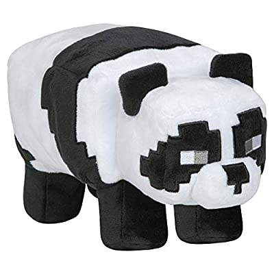 "JINX Minecraft Adventure Panda Plush Stuffed Toy, Black/White, 9.5"" Long"
