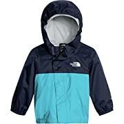 The North Face Infant Tailout Rain Jacket Cosmic Blue and Turquoise Blue - 12M