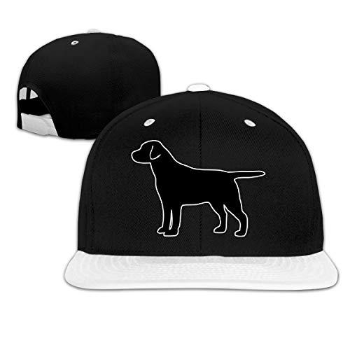 (JLPOU-6 Mens/Womens Hip-hop Hats Labrador Retriever Dog (2) Adjustable Baseball Caps White)