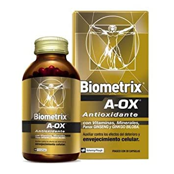 Biometrix A-OX Multivitamin And Mineral Supplement With Ginseng And Ginkgo Biloba 30 Capsules To