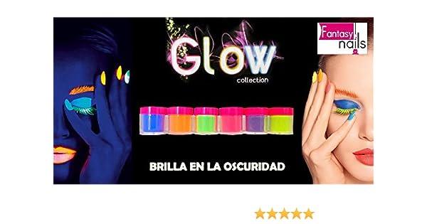 Fantasy Nails Sinaloa - Glow In the dark Acrylic Nail Powder Collection - set of 6