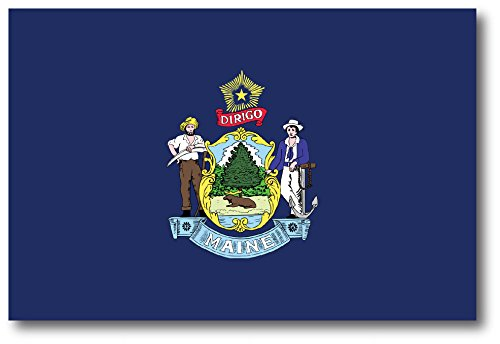 Maine Car Magnet US State Flag Refrigerator Locker SUV Heavy Duty Waterproof