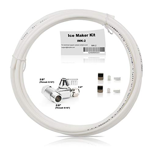 Frizzlife Ice Maker Fridge Water Line Installation Kit For Standard Braid Hose Connect Water Filter System-9/16