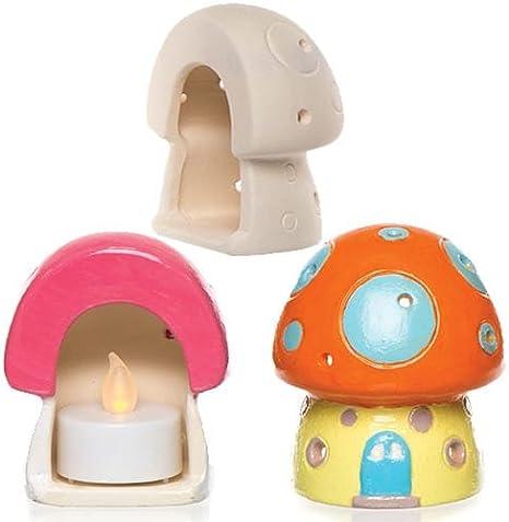 Loisirs cr/éatifs sur le th/ème du printemps que les enfants pourront d/écorer et exposer lot de 4 Baker Ross Porte-bougies chauffe-plats fleur en bois
