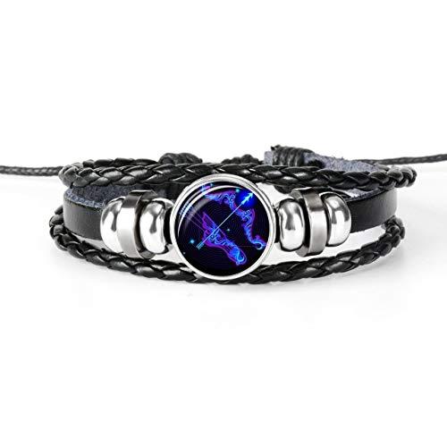 Amazon.com: 12 Constellation Zodiac Sign Black Braided ...