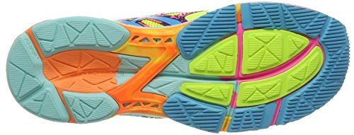 ASICS Gel-Noosa Tri 10 - Zapatillas de deporte para mujer Amarillo/Turquesa/Rosa (Flash Yellow / Turquoise / Flash Pink 739)