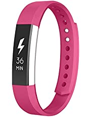 ANCOOL Compatible with Fitbit Alta Bands,Classic Soft TPU Silicone Adjustable Fashion Sport Strap Replacement for Fitbit Alta Fitness Accessory(Large,Rose)