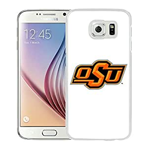 Samsung Galaxy S6 Case,100% brand new NCAA Big 12 Conference Big12 Football Oklahoma State Cowboys 4 White Case For Samsung Galaxy S6