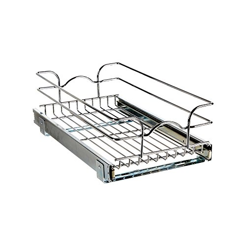 Rev-A-Shelf - 5WB1-1220-CR - 12 in. W x 20 in. D Base Cabinet Pull-Out Chrome Wire Basket (Chrome Wire Basket)