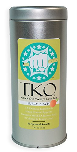 """T.K.O. """"Knock Out"""" Weight Loss Tea, All Natural Dieter's Tea, Boosts Metabolism, Cleanses Body, Aids Digestion, Great Addition to Any Diet (Peach) For Sale"""