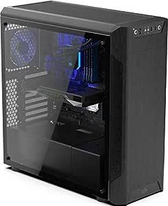 SilentiumPC Armis AR7 TG Escritorio Negro - Caja de Ordenador (Escritorio, PC, Negro, ATX,Micro ATX,Mini-ITX, 17,8 cm, 42 cm): Amazon.es: Informática