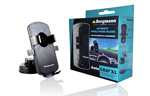 Bergmann Auto Grip Automatic Mobile Holder (Black, XL)