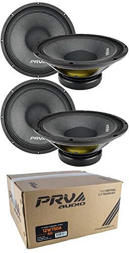 (4X 12 PRV Audio 12W750A Pro Audio Woofer Loud Speaker 8 Ohm 3000W Car)