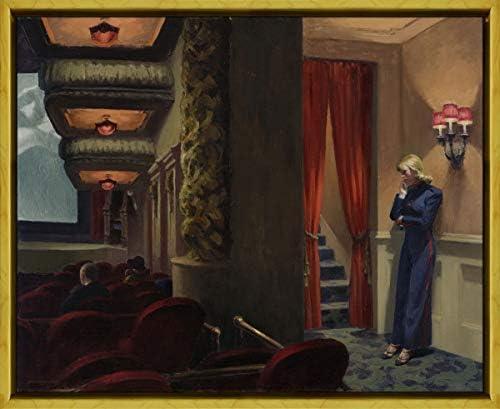 Berkin Arts Framed Edward Hopper Giclee Canvas Print Paintings Poster Reproduction New York Movie XLK