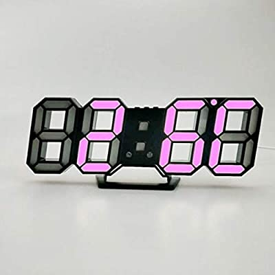Amazon.com: Harlica Reloj de pared 3D LED moderno digital de ...