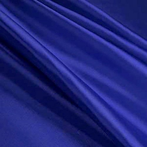 Royal Blue 5% Stretch Satin 98% Polyester 2% Spandex Blend 58-60 Lightweight Inch wide JN00080 Blue Stretch Satin