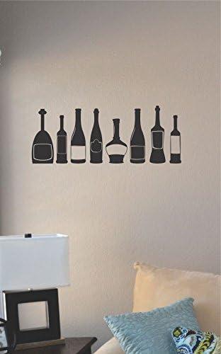 Amazon Com Js Artworks Wine Bottles Vinyl Wall Art Decal Sticker Home Kitchen