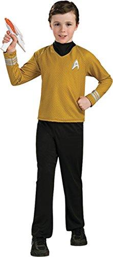 Rubie's Big Boy's Star Trek Child Gold Costume Large