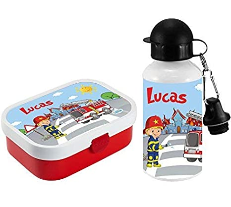Brotdose Pausenbox Brotbox mit Namen Trinkflasche Alutrinkflasche  Sterne