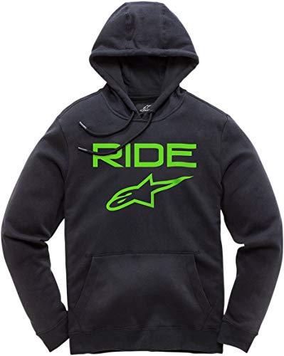 (Alpinestars Ride 2.0 Mens Pullover Fleece Hoodies - Black/Green - X-Large)