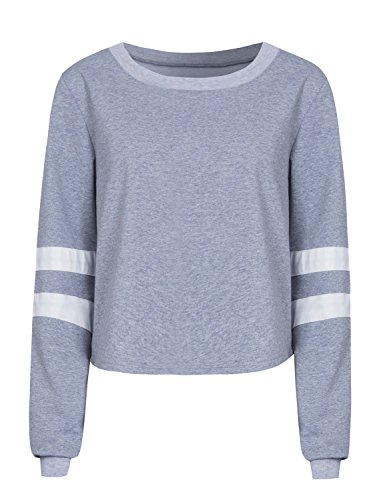 PERSUN Womens Casual Striped Sweatshirt