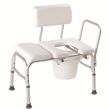 Amazon.com: Carex Padded Tub Transfer Bench with Commode - Carex ...