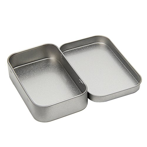 Tangc Small Metal Tin Silver Flip Storage Box Case Organizer For Money Coin Candy Key by Tangc (Image #5)