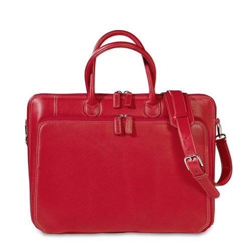 Levenger Carisma Majorca Briefbag, Red (AL11015 RD)