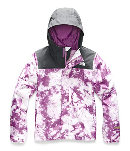 The North Face Girls' Resolve Reflective Jacket, Wisteria Purple Big Foot Tie Dye Print - Small