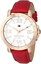 Tommy Hilfiger Women's 1781439 Gold-Tone Watch with Pink Strap
