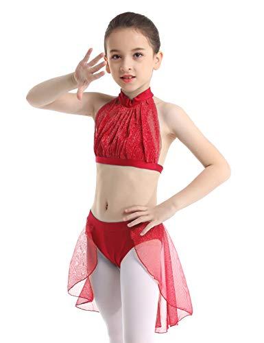 Lyrical Dance Costumes Two Piece - iEFiEL Kids Girls' Modern Lyrical Praise