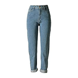 Sorrica Women's Jeans Stretch Straight-Leg Boyfriend Denim Pants