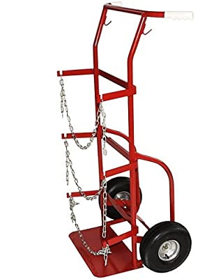 Milwaukee Hand Trucks 40509 Delivery Cylinder Truck 2 Gas Cylinders
