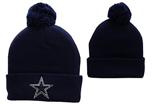 Dallas Cowboys Basic Pom Knit Hat