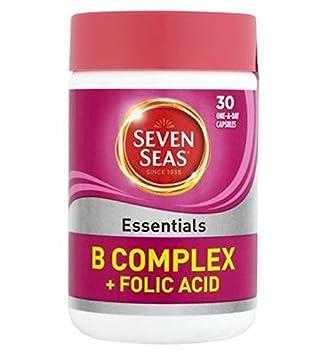 Seven Seas B Complejo Esencial Vitamina Con Ácido Fólico 400 Microgramos - 30 Cápsulas De Un Día A (Paquete de 6): Amazon.es: Hogar