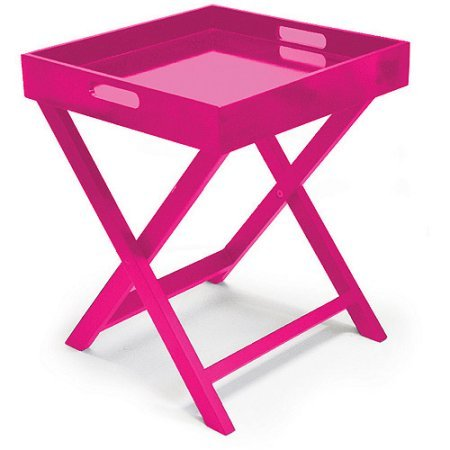 Urban Shop WK655786 Folding Tray Table, Pink by Urban Shop