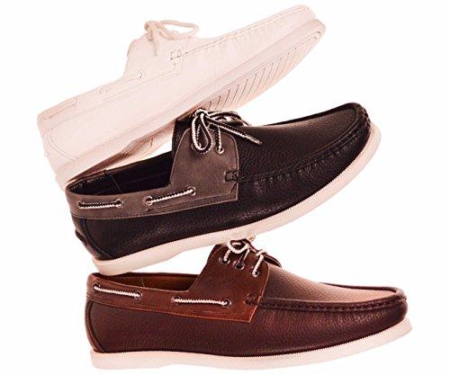 Amali Chaussures À Lacets Pour Les Yeux 3 Eye Up En Blanc Lisse Supérieure, Lacets Et Semelle: Style Pignon Blanc-007
