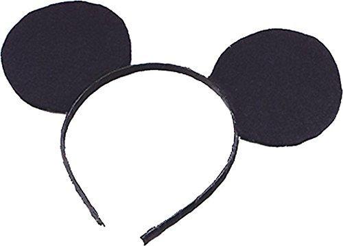 Mickey Mouse Ears Costume (Black Felt Mouse Ears On Headband)