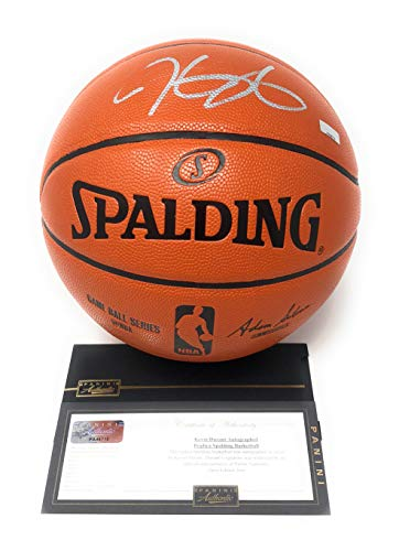 (Kevin Durant Golden State Warriors Signed Autograph NBA Game Basketball Silver Ink Panini Authentic Certified)