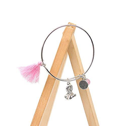 - Breast Cancer Expandable Bracelet Crystal Bangle Bracelet Pink Ribbon Survivor Awareness Fighter Gift