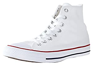 Mens Converse Chuck Taylor All Star High Top Sneakers (Optical White, 8 D(M) US)