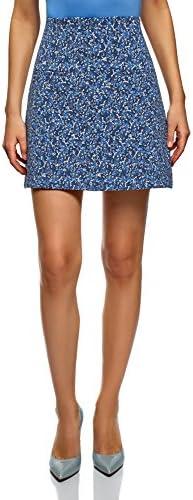 oodji Ultra Mujer Falda Trapecio con Bolsillos Decorativos: Amazon ...