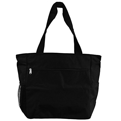 World Traveler 13.5 Inch Beach Bag, Black, One - Warehouse Beach Bag