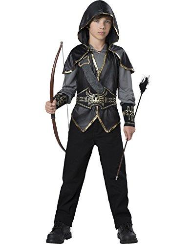 InCharacter Hooded Huntsman Costume, Black/Gray/Gold, Small